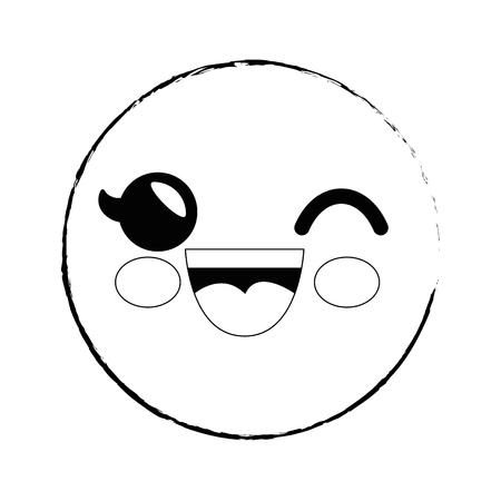 スマイリー漫画幼稚なベクター アイコン イラスト グラフィック デザイン 写真素材 - 79175387