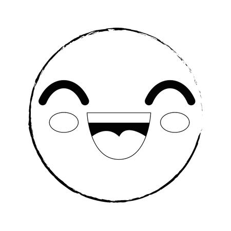 スマイリー漫画幼稚なベクター アイコン イラスト グラフィック デザイン 写真素材 - 79175389