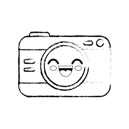 camera cartoon smiley vector icon illustration graphic design