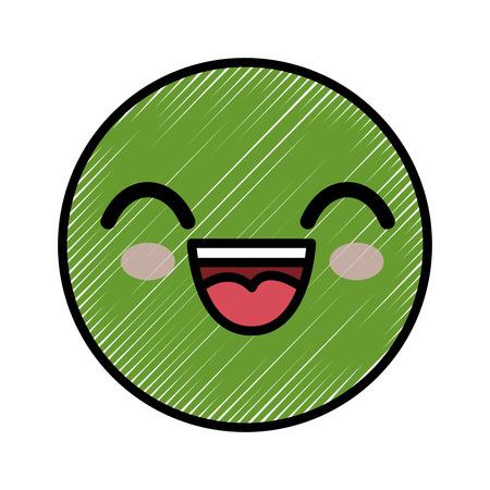 スマイリー漫画幼稚なベクター アイコン イラスト グラフィック デザイン 写真素材 - 79175896