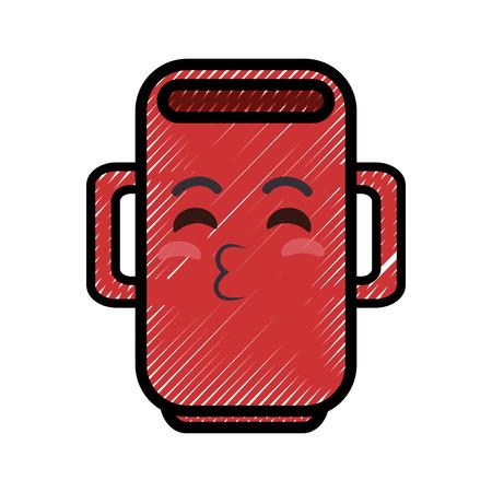 mug cartoon smiley vector icon illustration graphic design