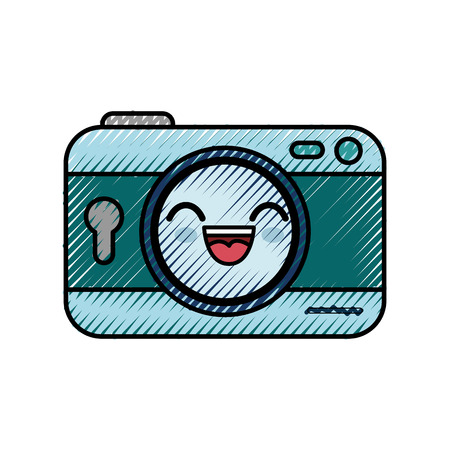 camera cartoon smiley vector icon illustration graphic design