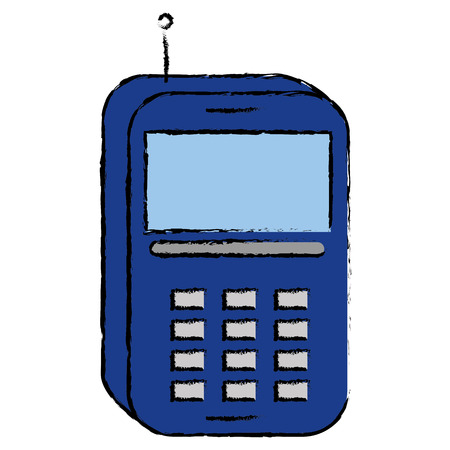 mobile phone technology vector icon illustration graphic design Illustration