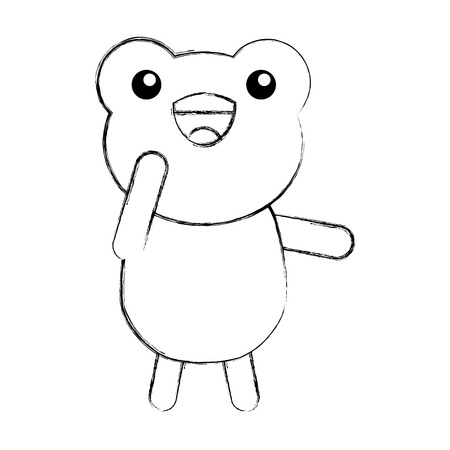 cute sketch draw toad cartoon graphic design