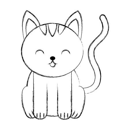 cute sketch draw cat cartoon graphic design