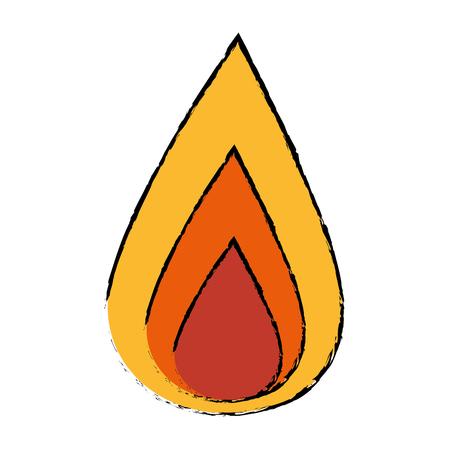 Progettazione grafica dell'illustrazione dell'icona di vettore di energia del fuoco flamme Archivio Fotografico - 79178110