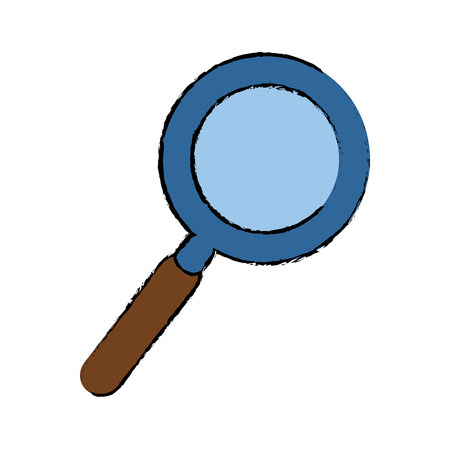 magnifying glass object vector icon illustration graphic design