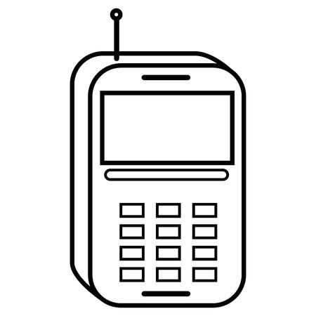mobile phone technology vector icon illustration graphic design Illusztráció
