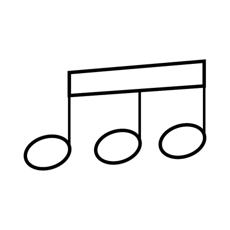 musical note tone vector icon illustration graphic design