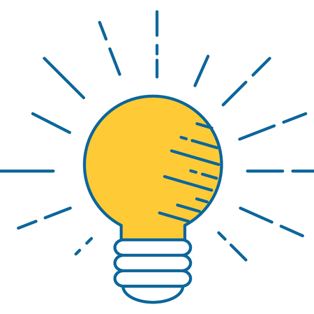 light bulb electric vector icon illustration graphic design