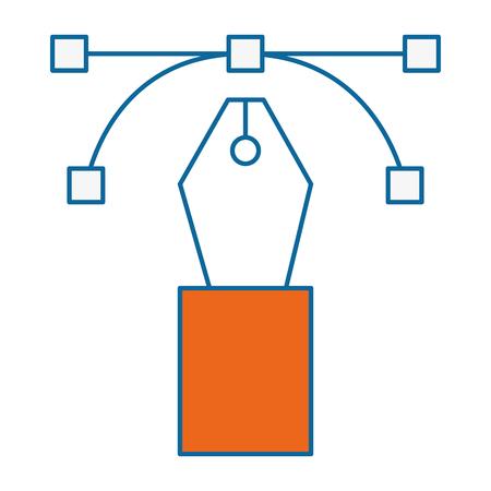 pen office object vector icon illustration graphic design Ilustração