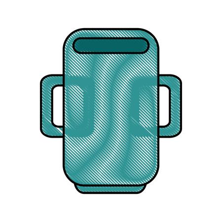 mug cup object vector icon illustration graphic design Ilustração