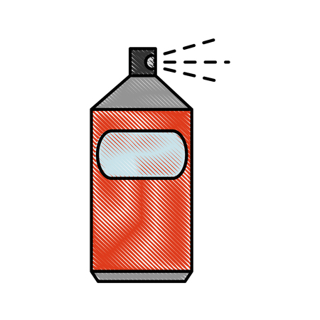 spray can object vector icon illustration graphic design Illustration