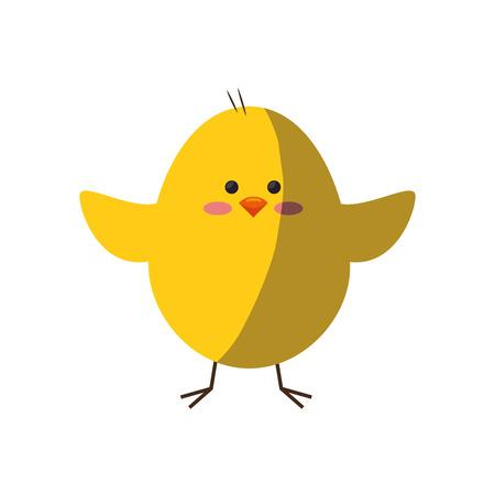 chick animal cute vector icon illustration graphic design