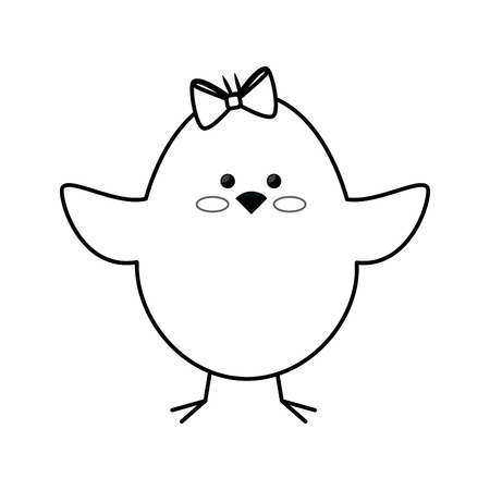 chick animal cute vector icon illustration graphic design