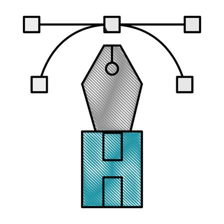 펜 사무실 개체 벡터 아이콘 일러스트 그래픽 디자인 스톡 콘텐츠 - 79182052