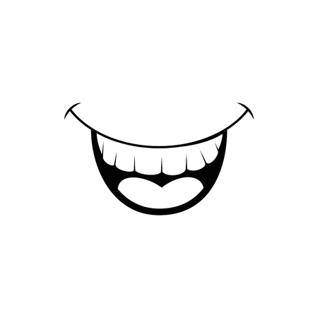 comedy: smile fun cartoon vector icon illustration graphic design Illustration
