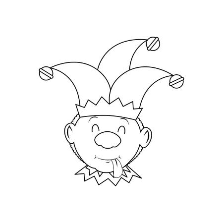 het grafische ontwerp van de het pictogramillustratie van de jokermens grappige vector