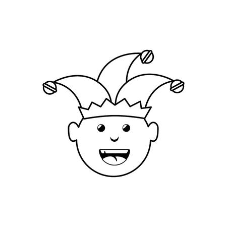 Joker hombre divertido vector icono ilustración diseño gráfico Foto de archivo - 79185492