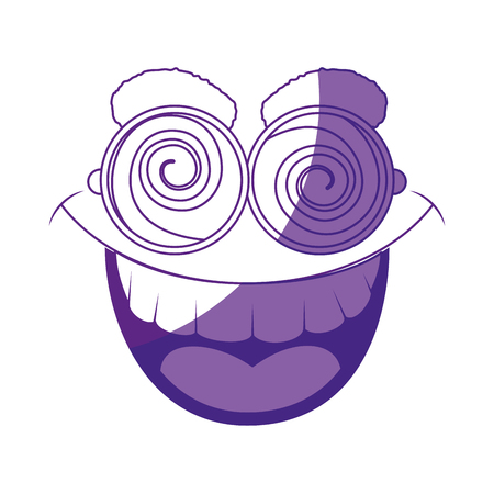 comedy: funny face glasses vector icon illustration graphic design Illustration