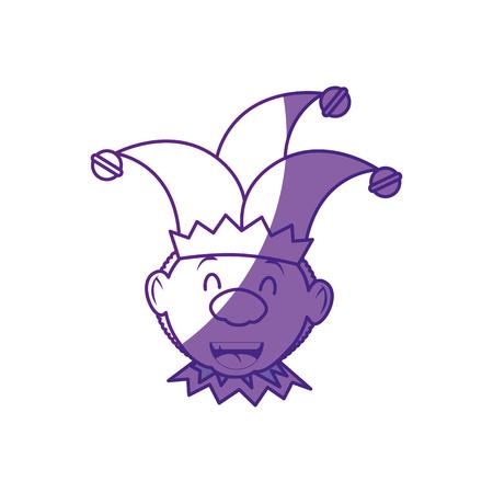 Joker hombre divertido vector icono ilustración diseño gráfico Foto de archivo - 79183823