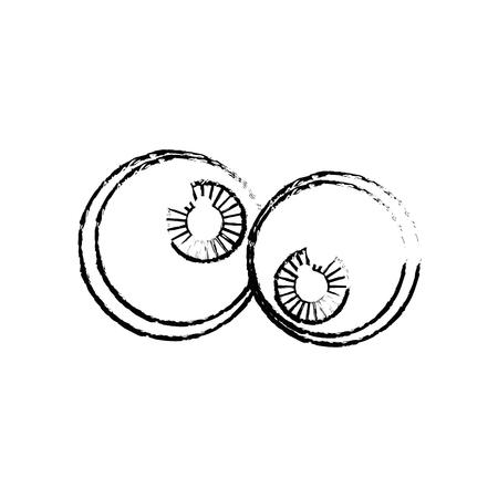 funny eyes cartoon vector icon illustration graphic design