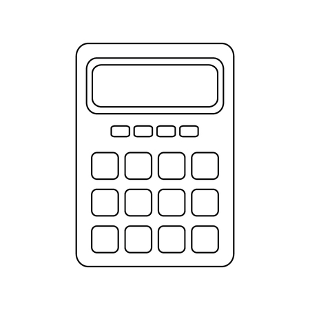 calculator electronic object vector icon illustration graphic design Illustration
