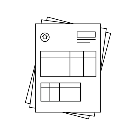 autograph: document contract official vector icon illustration graphic design