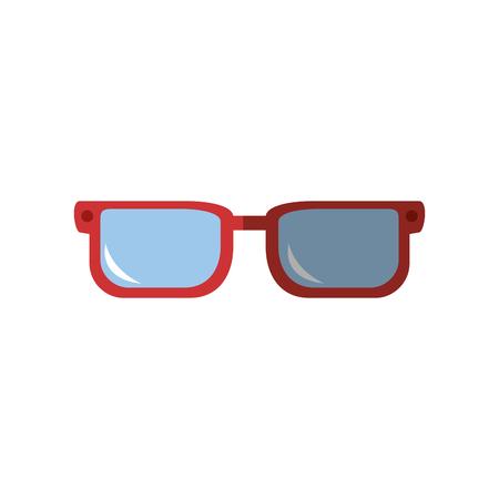 glasses pair object vector icon illustration graphic design Ilustração