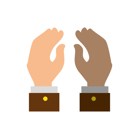 hand shake gesture vector icon illustration graphic design