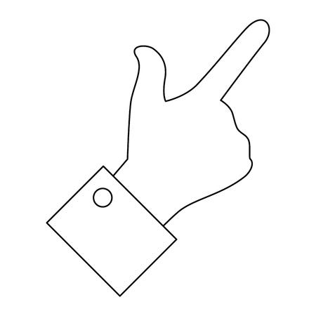 hand pointing gesture vector icon illustration graphic design Banco de Imagens - 79186520
