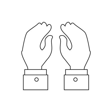 hand shake gesture vector icon illustration graphic design