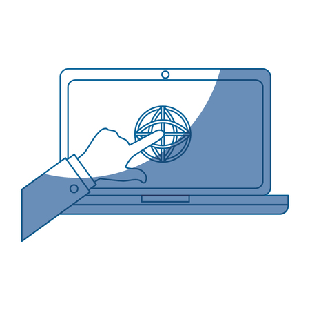 pc laptop business vector icon illustration graphic illustration Ilustração