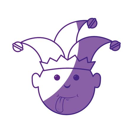 Joker hombre divertido vector icono ilustración diseño gráfico Foto de archivo - 79192395