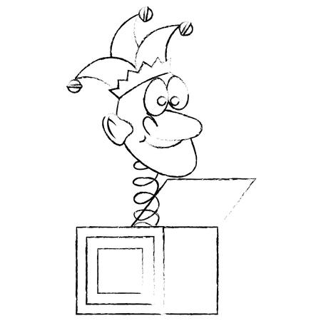 jack box toy vector icon illustration graphic design