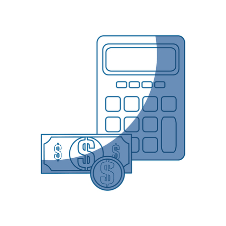 calculator money tax vector icon illustration graphic design Ilustração