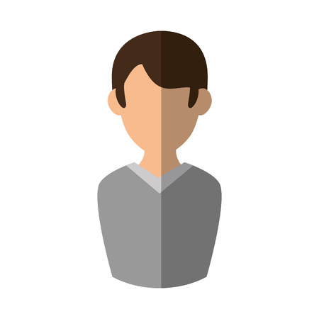 man faceless avatar vector icon illustration graphic design