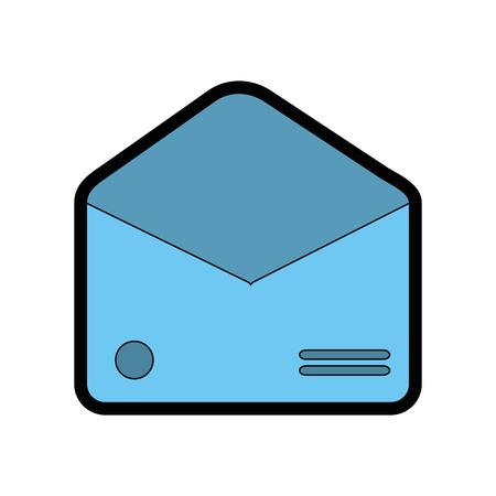 envelope empty paper vector icon illustration graphic design
