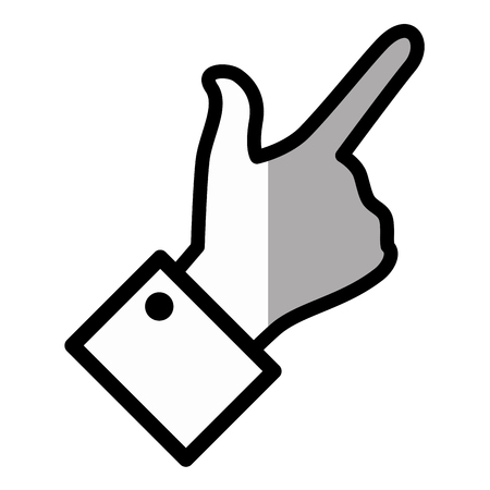 hand pointing gesture vector icon illustration graphic design Banco de Imagens - 79192406