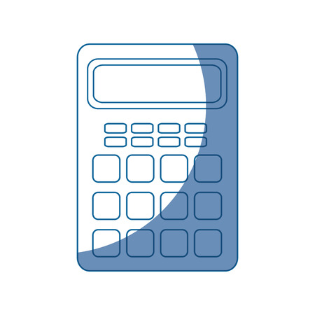 calculator electronic object vector icon illustration graphic design Ilustração