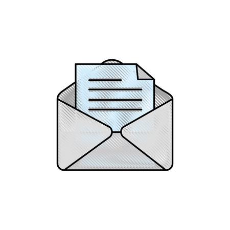 envelope paper sheet vector icon illustration graphic design Illustration