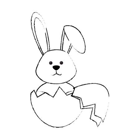 rabbit egg easter vector icon illustration graphic design Illustration