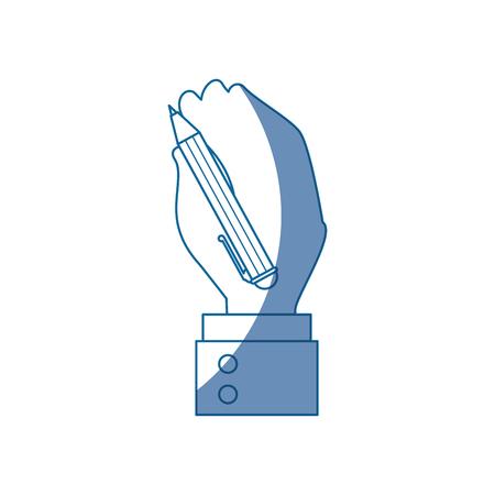 hand holding pen vector icon illustration graphic design Illustration