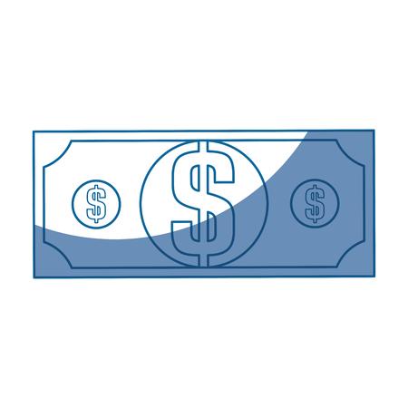 cash money bill vector icon illustration graphic design
