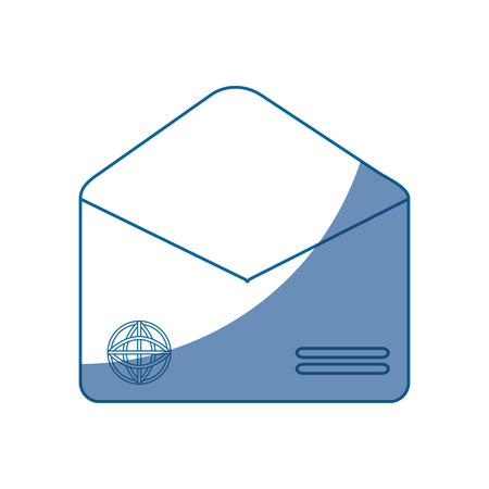 envelope empty paper vector icon illustration graphic design