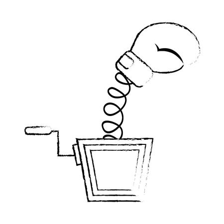 jack glove toy vector icon illustration graphic design