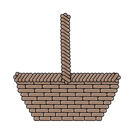 basket empty object vector icon illustration graphic design