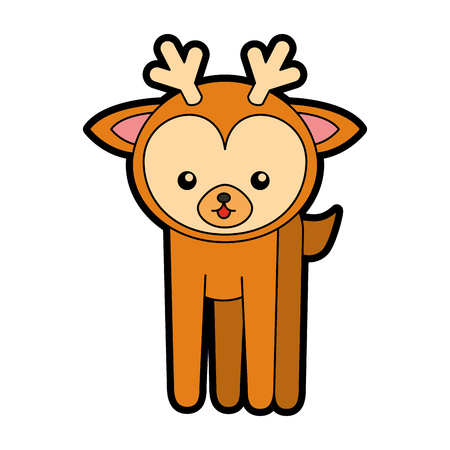 simple life: cute color deer cartoon vector graphic design Illustration