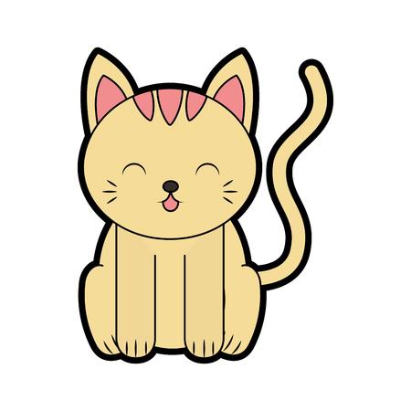cute color cat cartoon vector graphic design