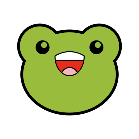 cute toad face cartoon vector graphic design